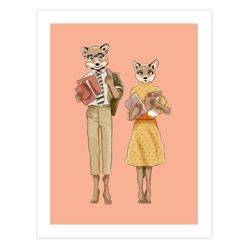 Fox Love Home Fine Art Print by Misterdressup