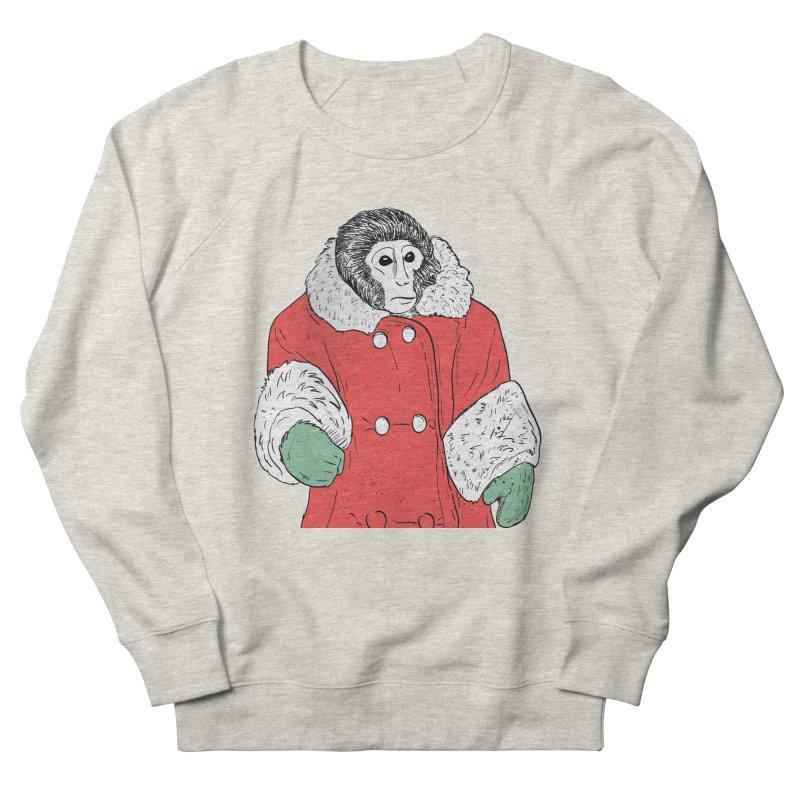 Ikea Monkey in Men's French Terry Sweatshirt Heather Oatmeal by Misterdressup
