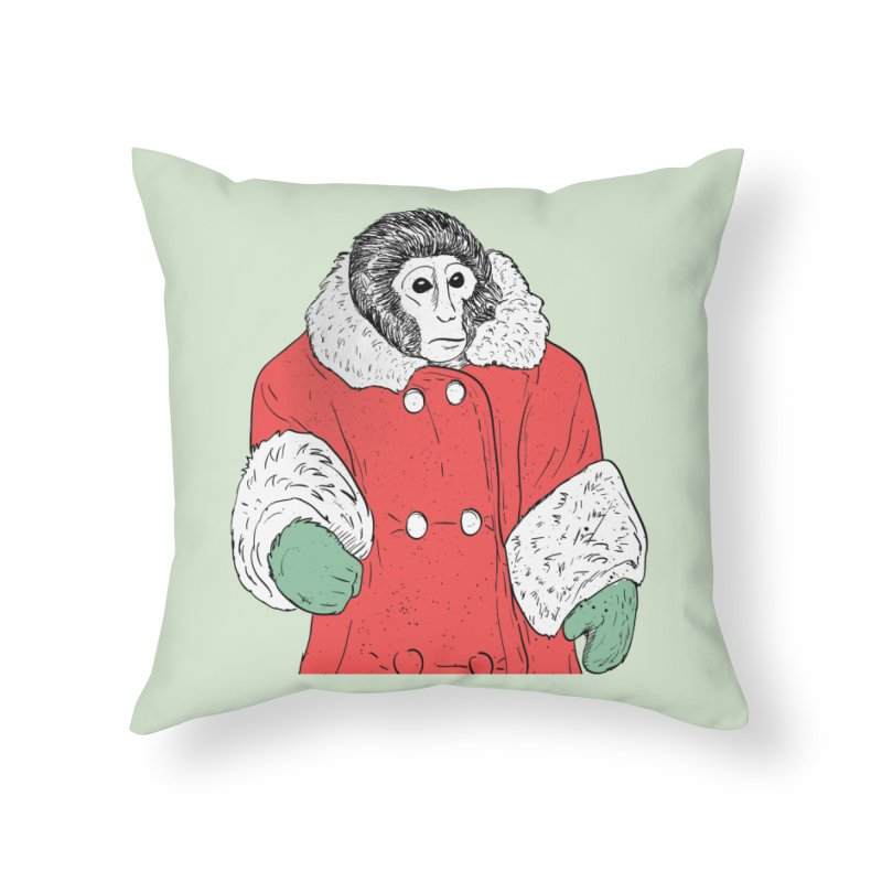 Ikea Monkey in Throw Pillow by Misterdressup