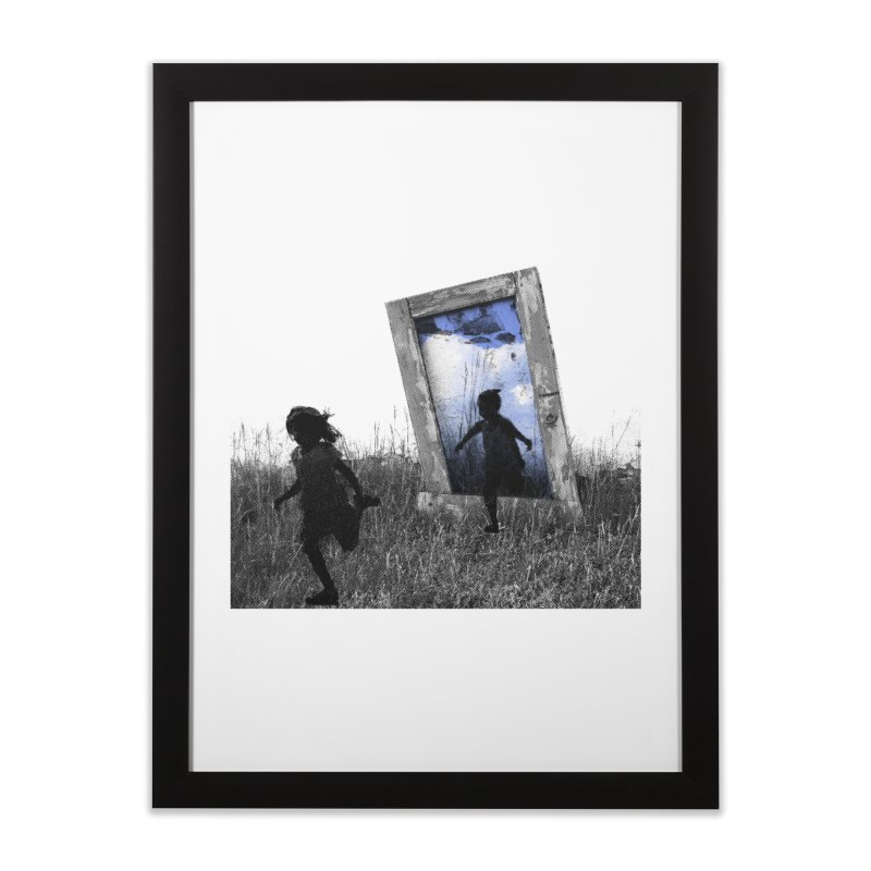 Imaginary Playgrounds in Framed Fine Art Print Black by Misterdressup