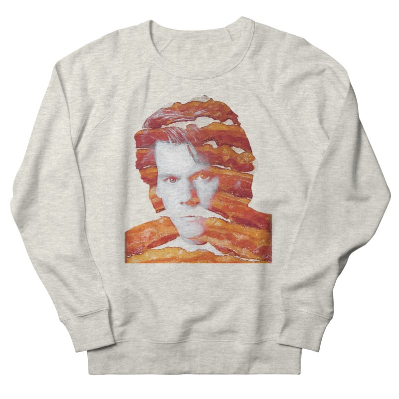 Kevin Bacon in Men's French Terry Sweatshirt Heather Oatmeal by Misterdressup