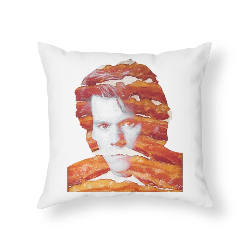 Kevin Bacon in Throw Pillow by Misterdressup