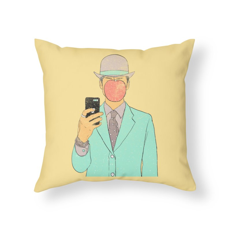 Original Selfie in Throw Pillow by Misterdressup
