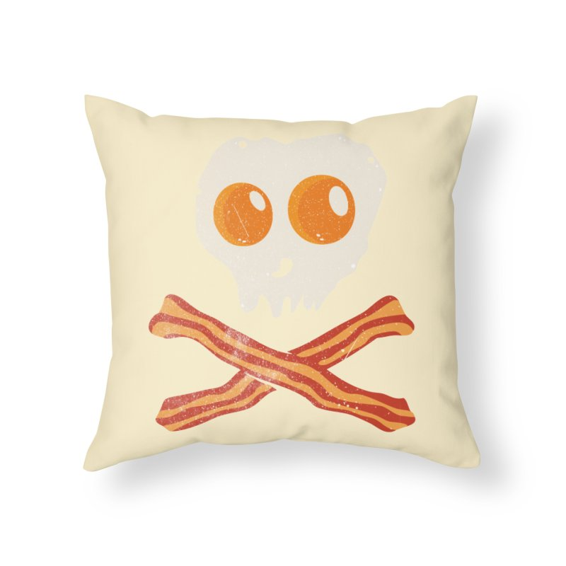 Pirate Breakfast in Throw Pillow by Misterdressup