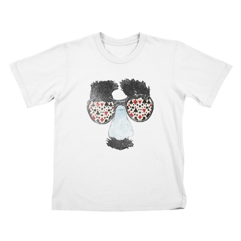 Poker Face in Kids T-Shirt White by Misterdressup