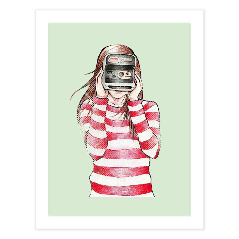 Polaroid Girl in Fine Art Print by Misterdressup