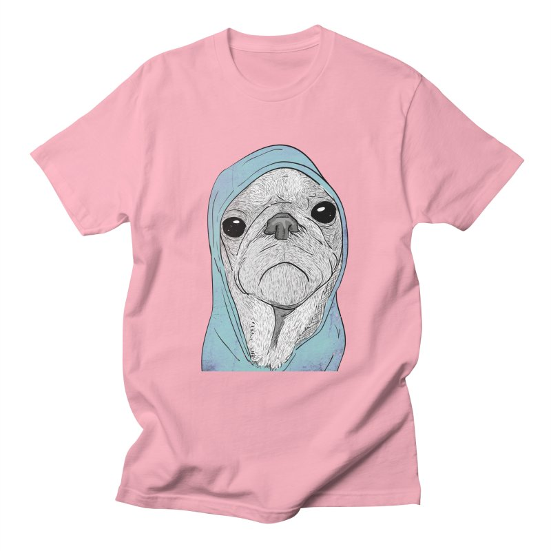 Pug's life in Men's T-Shirt Light Pink by Misterdressup