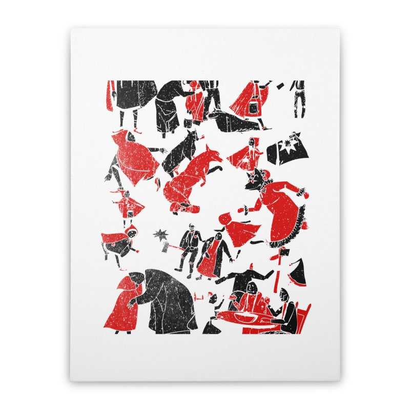 Le Petit Chaperon Rouge Home Stretched Canvas by Misterdressup