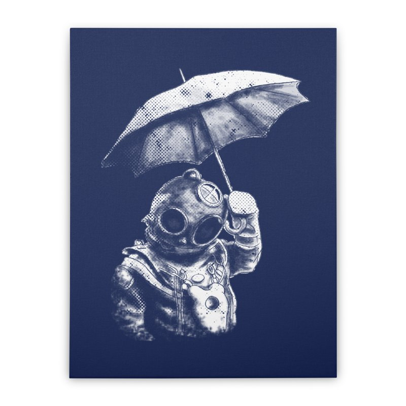 Meta Rain Home Stretched Canvas by Misterdressup