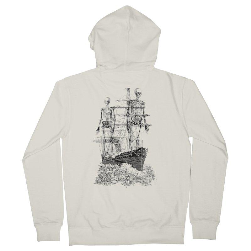 Skull Ship Women's Zip-Up Hoody by Misterdressup
