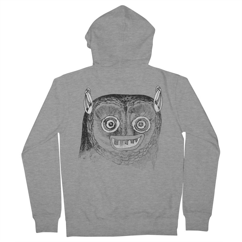Owl you need is love! Men's French Terry Zip-Up Hoody by Misterdressup