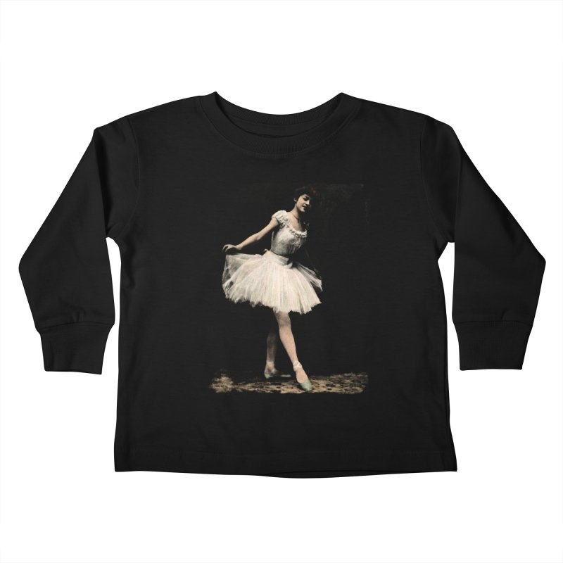 Ballerina Kids Toddler Longsleeve T-Shirt by Misterdressup
