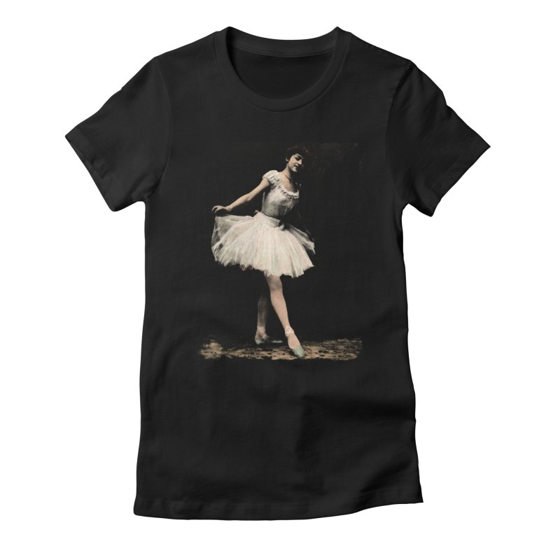 Ballerina in Women's Fitted T-Shirt Black by Misterdressup