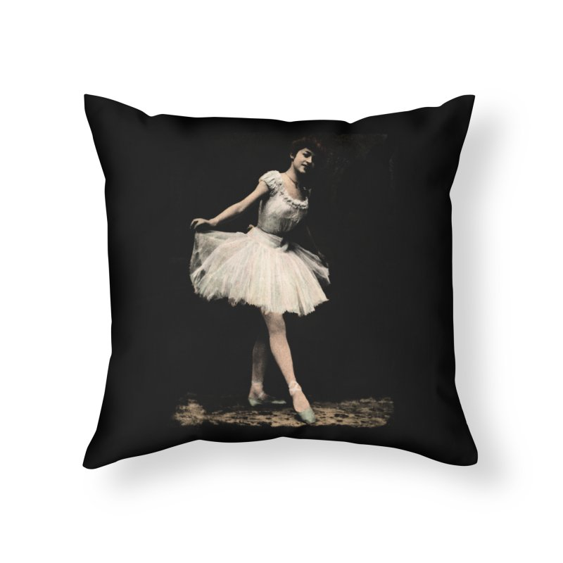 Ballerina Home Throw Pillow by Misterdressup