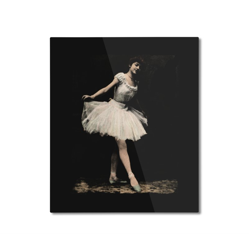 Ballerina Home Mounted Aluminum Print by Misterdressup