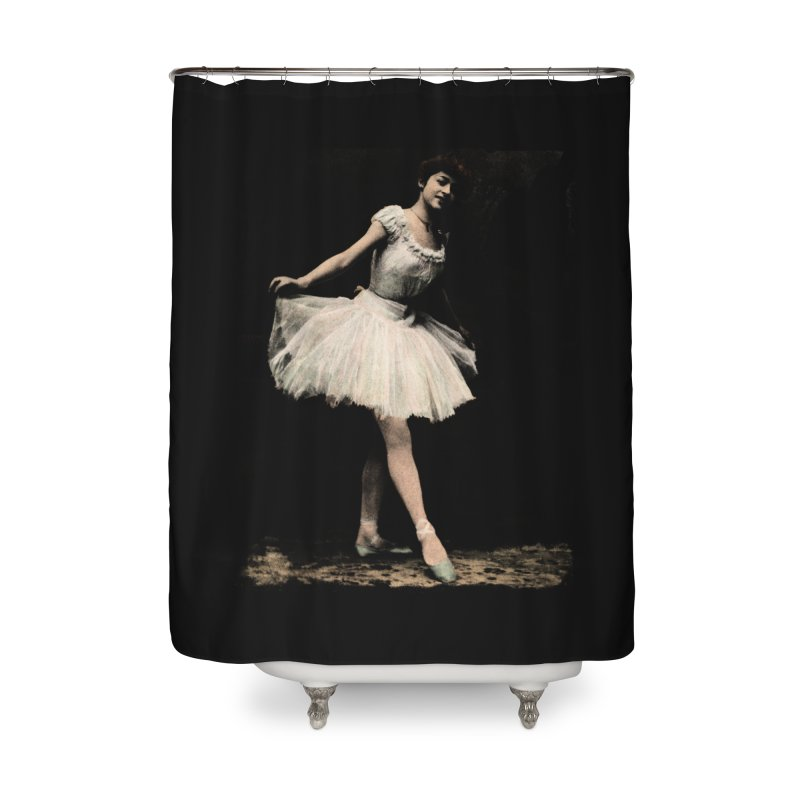 Ballerina Home Shower Curtain by Misterdressup