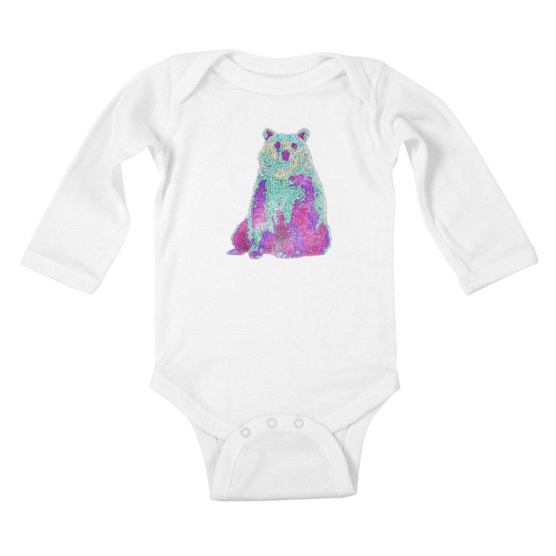 Bear Knit Kids Baby Longsleeve Bodysuit by Misterdressup