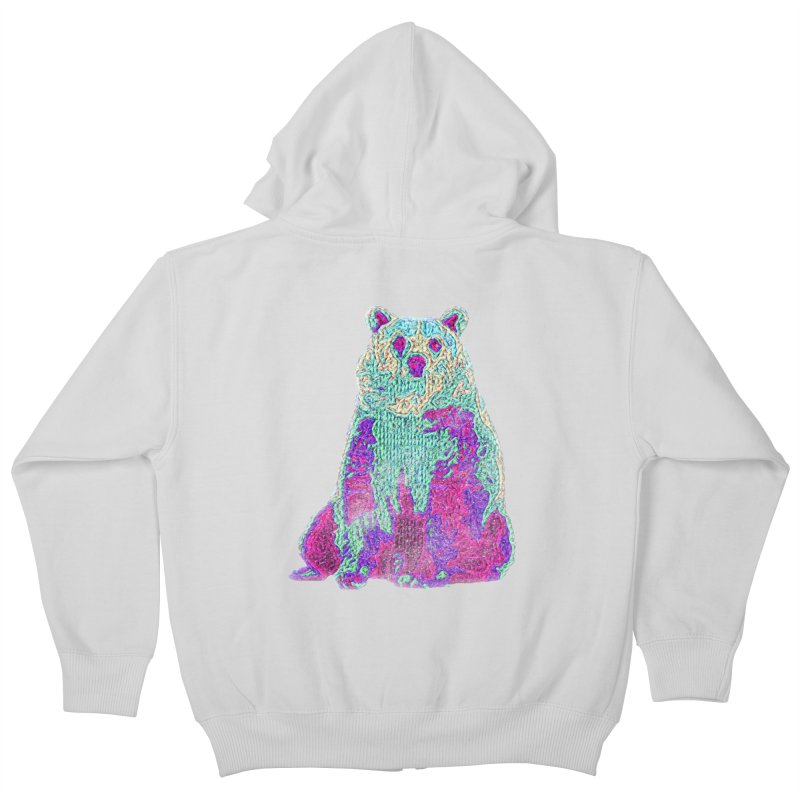 Bear Knit Kids Zip-Up Hoody by Misterdressup