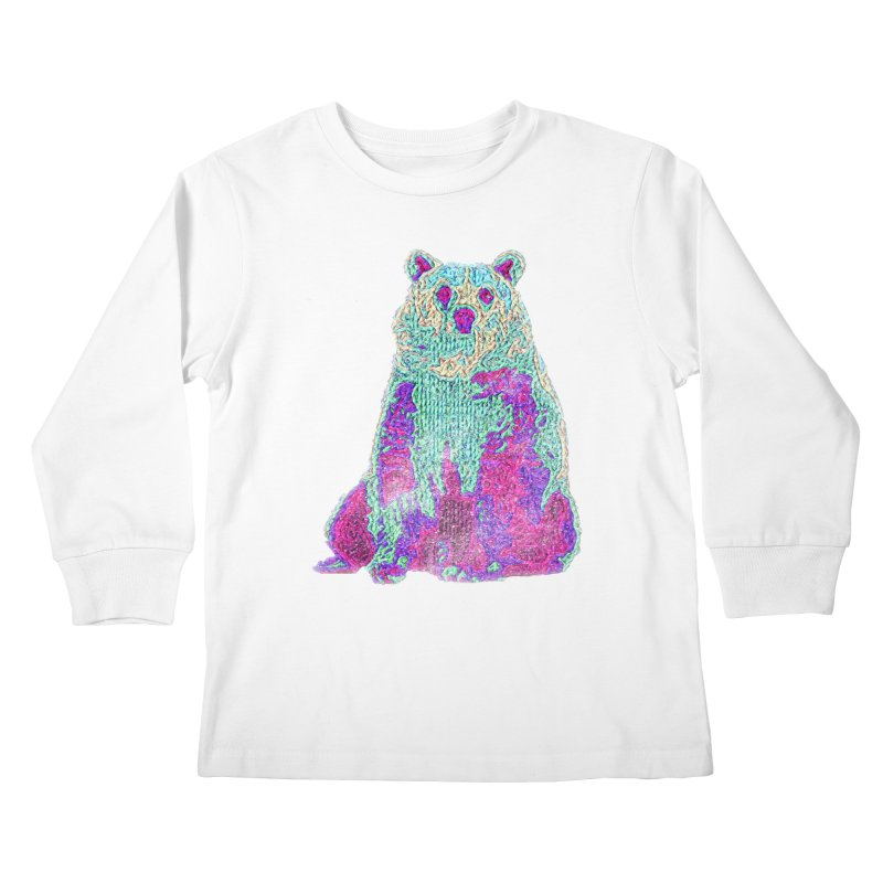 Bear Knit Kids Longsleeve T-Shirt by Misterdressup