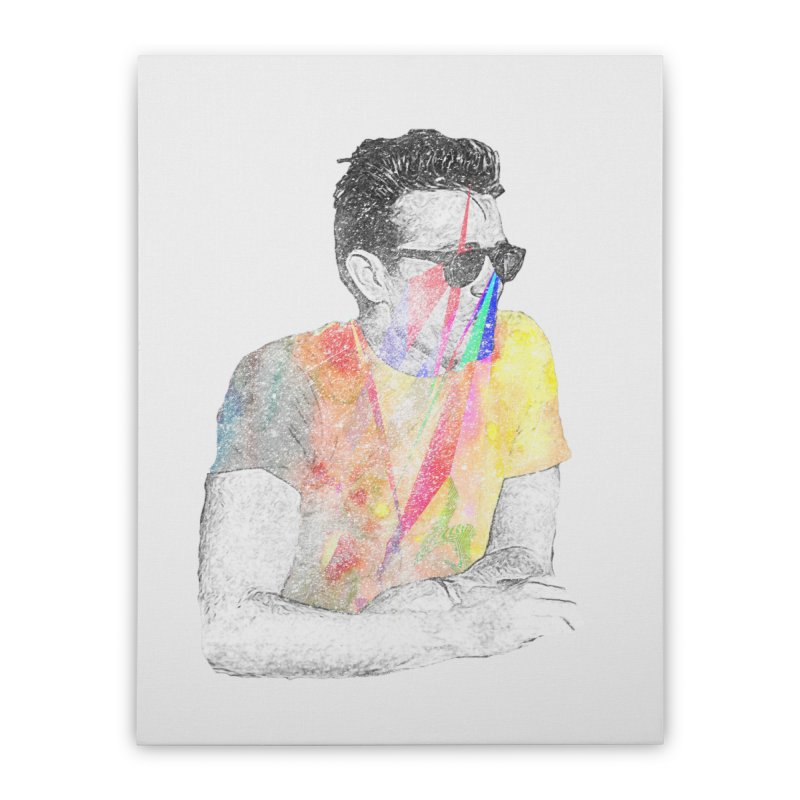James Dean Home Stretched Canvas by Misterdressup