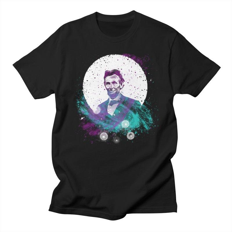 Cosmic Abe in Men's Regular T-Shirt Black by Misterdressup
