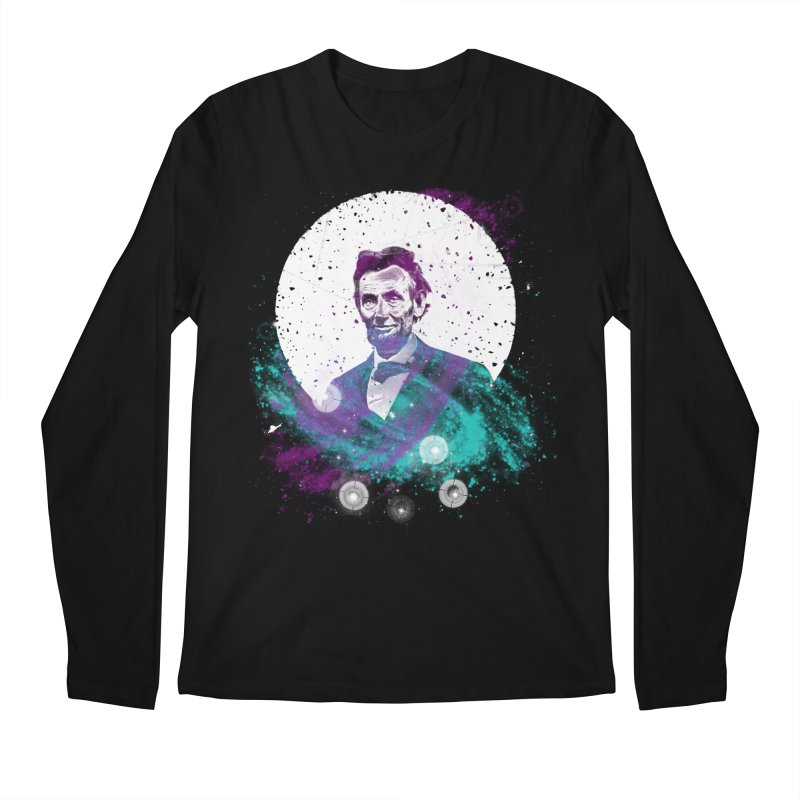 Cosmic Abe Men's Longsleeve T-Shirt by Misterdressup