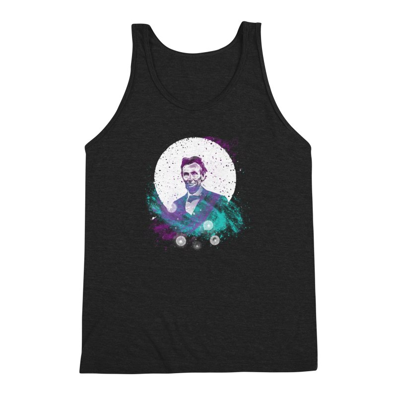Cosmic Abe Men's Triblend Tank by Misterdressup