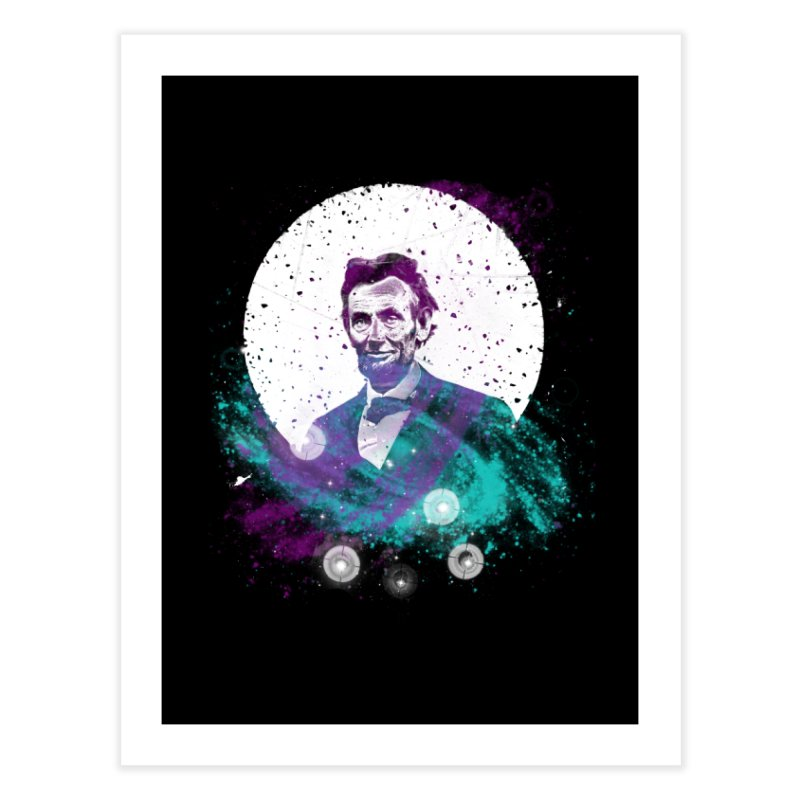 Cosmic Abe Home Fine Art Print by Misterdressup