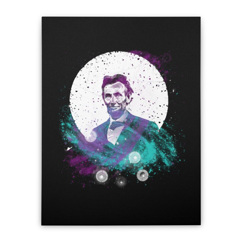 Cosmic Abe Home Stretched Canvas by Misterdressup