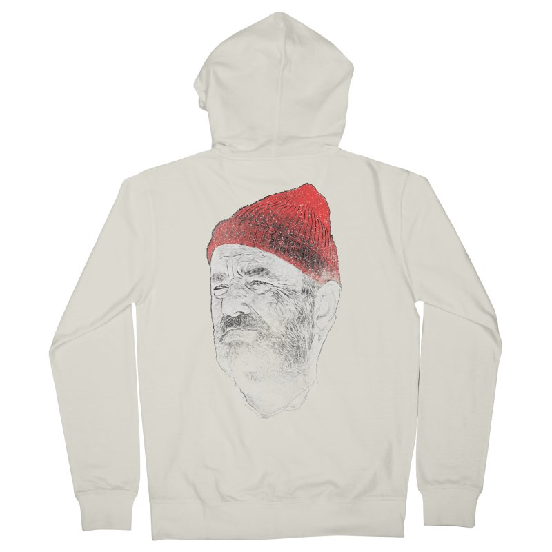 Steve Zissou Men's French Terry Zip-Up Hoody by Misterdressup