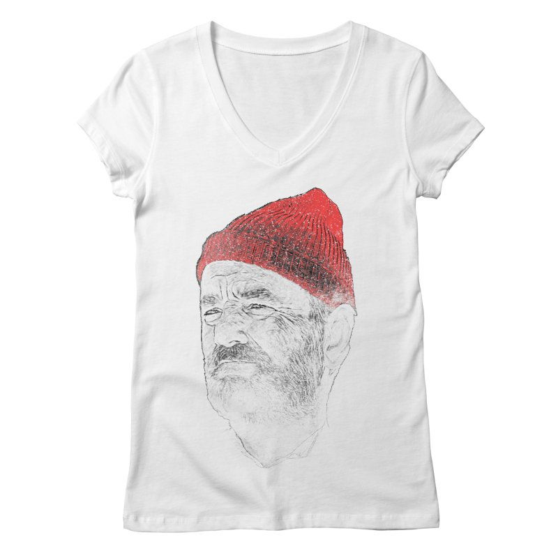 Steve Zissou Women's Regular V-Neck by Misterdressup