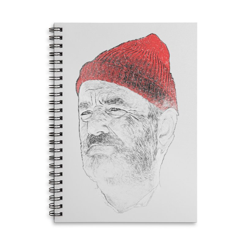 Steve Zissou Accessories Lined Spiral Notebook by Misterdressup