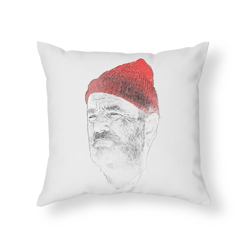Steve Zissou Home Throw Pillow by Misterdressup