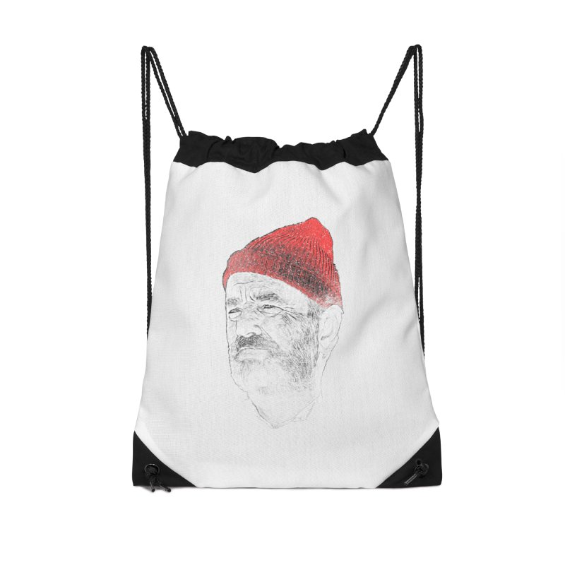 Steve Zissou Accessories Drawstring Bag Bag by Misterdressup