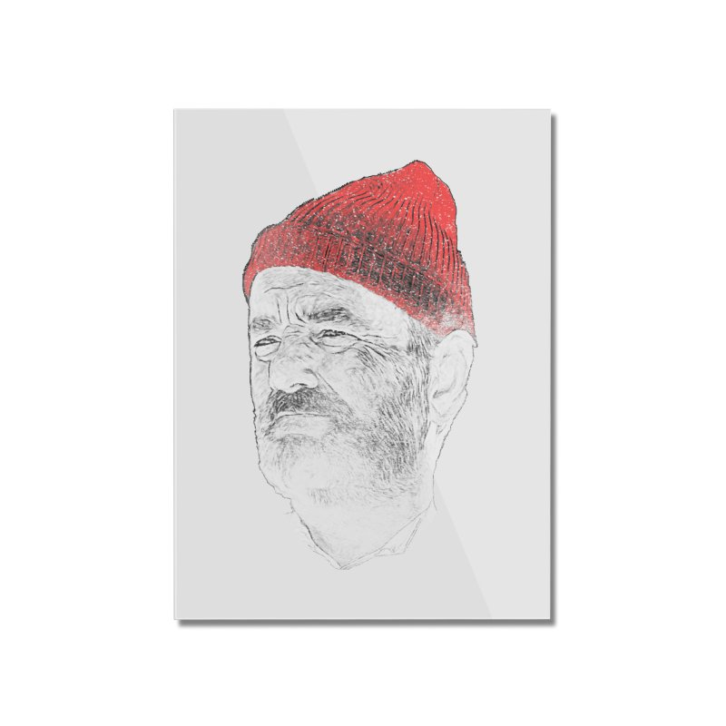 Steve Zissou Home Mounted Acrylic Print by Misterdressup