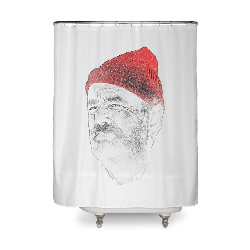 Steve Zissou Home Shower Curtain by Misterdressup