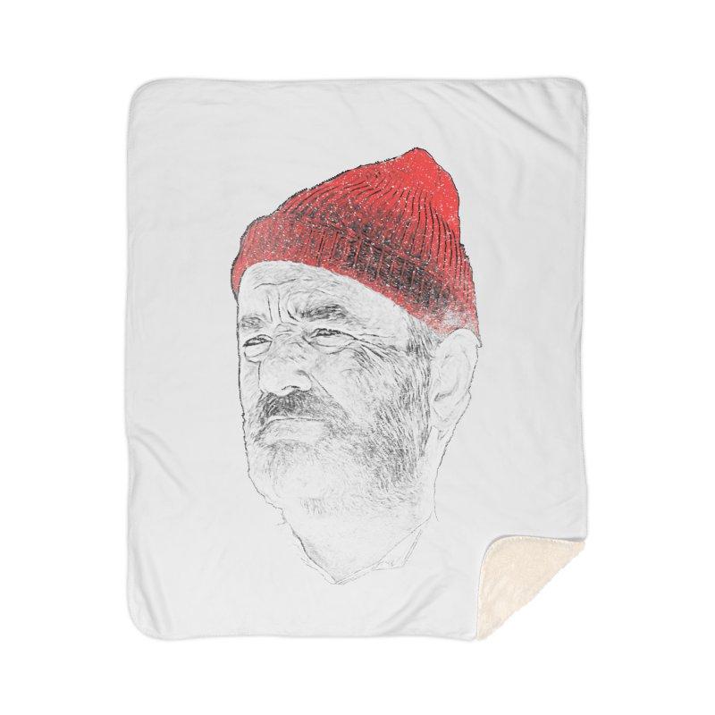 Steve Zissou Home Sherpa Blanket Blanket by Misterdressup