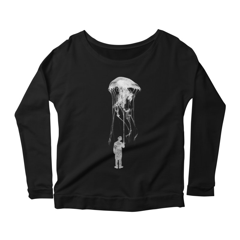 Unexpected Rain Women's Longsleeve Scoopneck  by Misterdressup