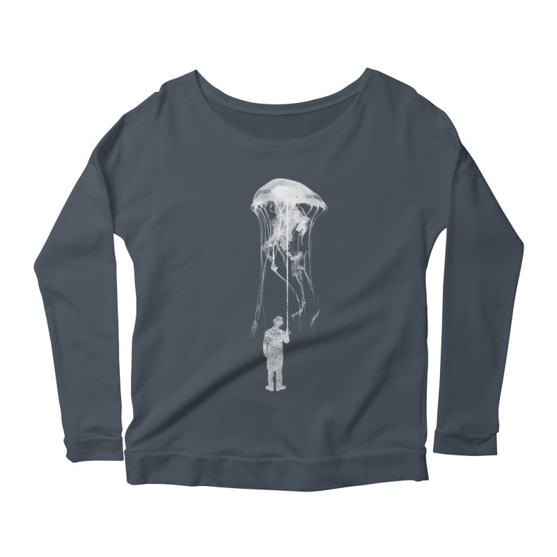 Unexpected Rain Women's Scoop Neck Longsleeve T-Shirt by Misterdressup
