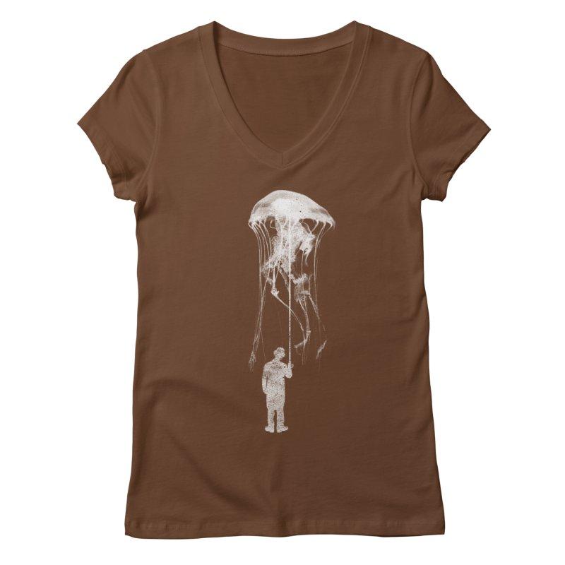 Unexpected Rain Women's Regular V-Neck by Misterdressup