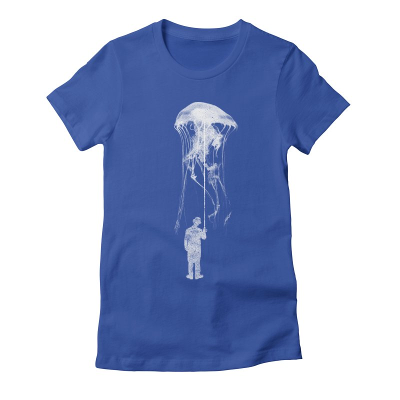 Unexpected Rain Women's Fitted T-Shirt by Misterdressup