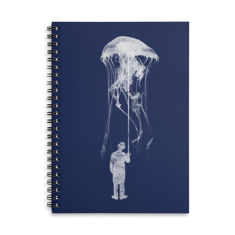 Unexpected Rain Accessories Lined Spiral Notebook by Misterdressup