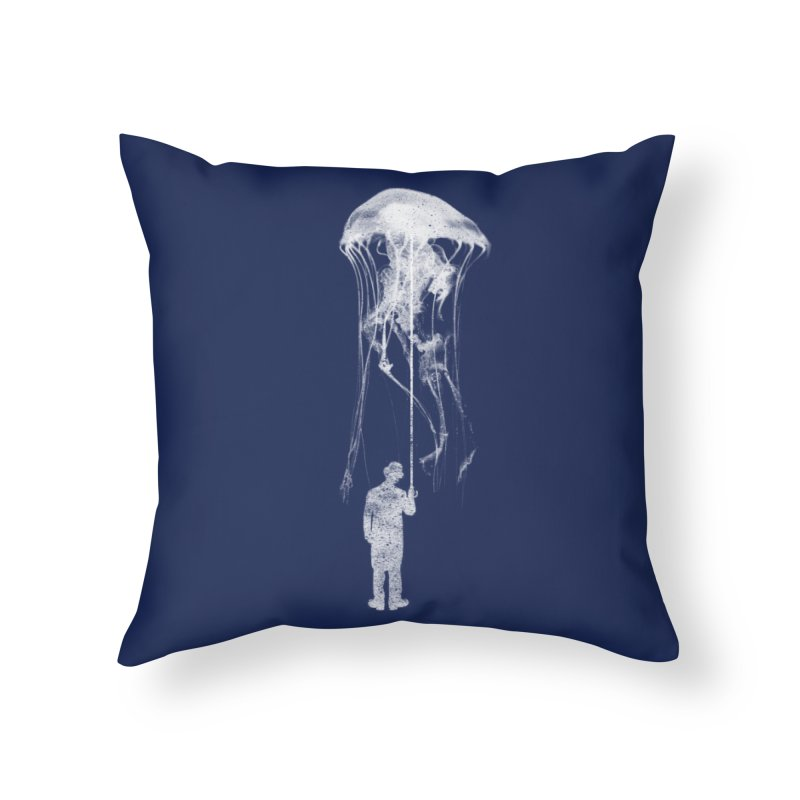 Unexpected Rain in Throw Pillow by Misterdressup
