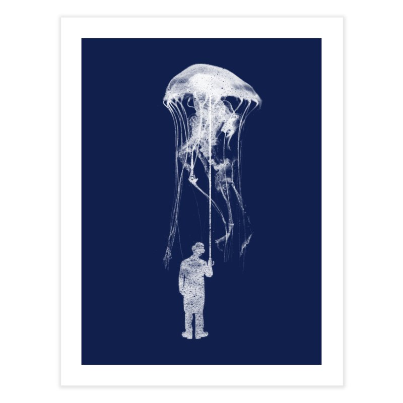Unexpected Rain Home Fine Art Print by Misterdressup