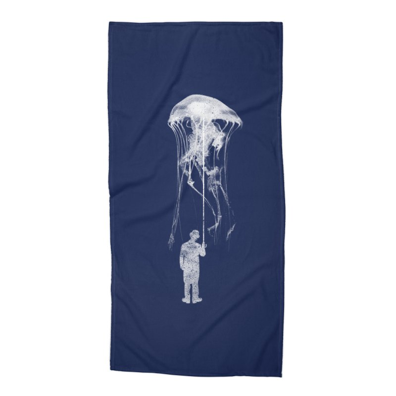 Unexpected Rain Accessories Beach Towel by Misterdressup