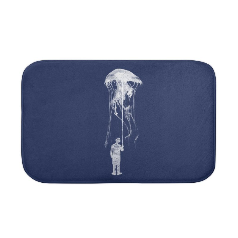 Unexpected Rain Home Bath Mat by Misterdressup