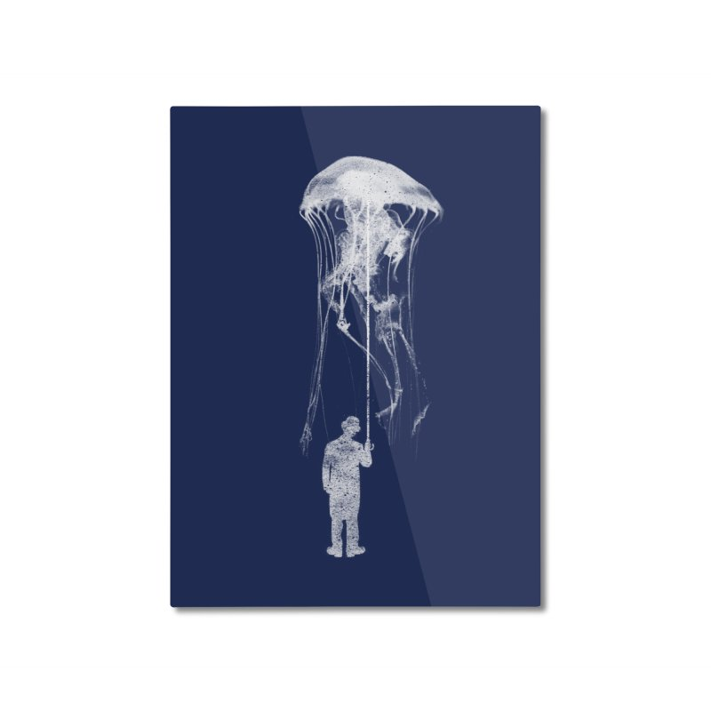 Unexpected Rain Home Mounted Aluminum Print by Misterdressup