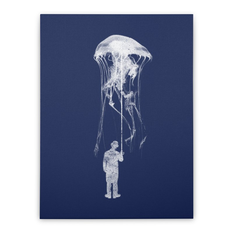 Unexpected Rain Home Stretched Canvas by Misterdressup