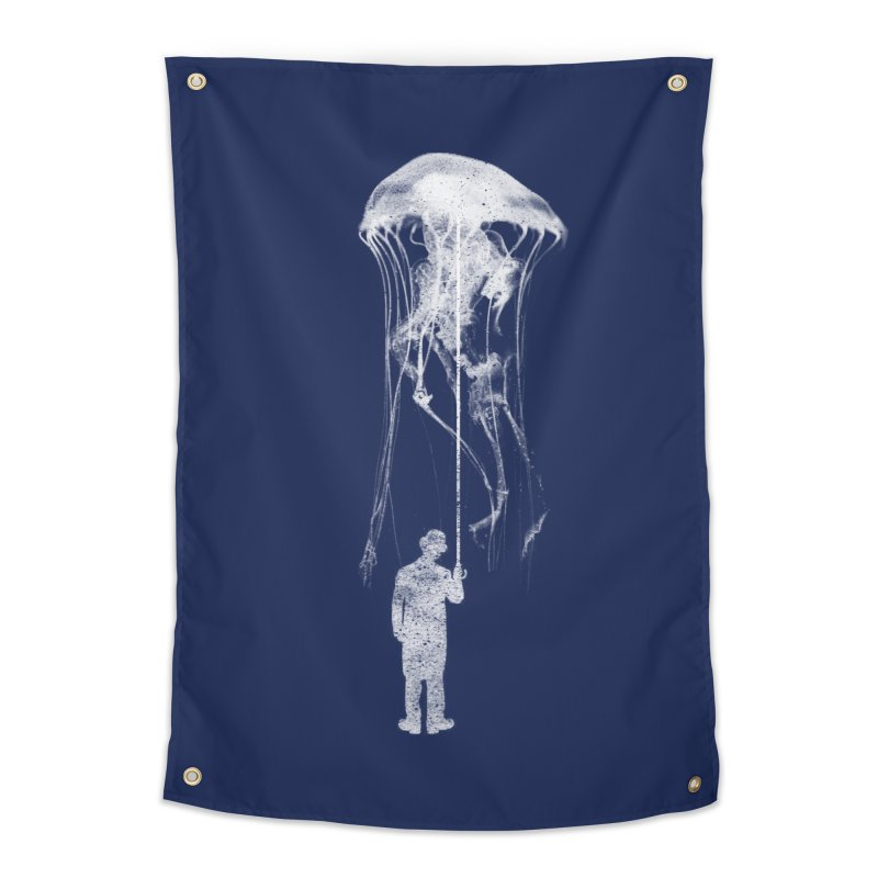 Unexpected Rain Home Tapestry by Misterdressup