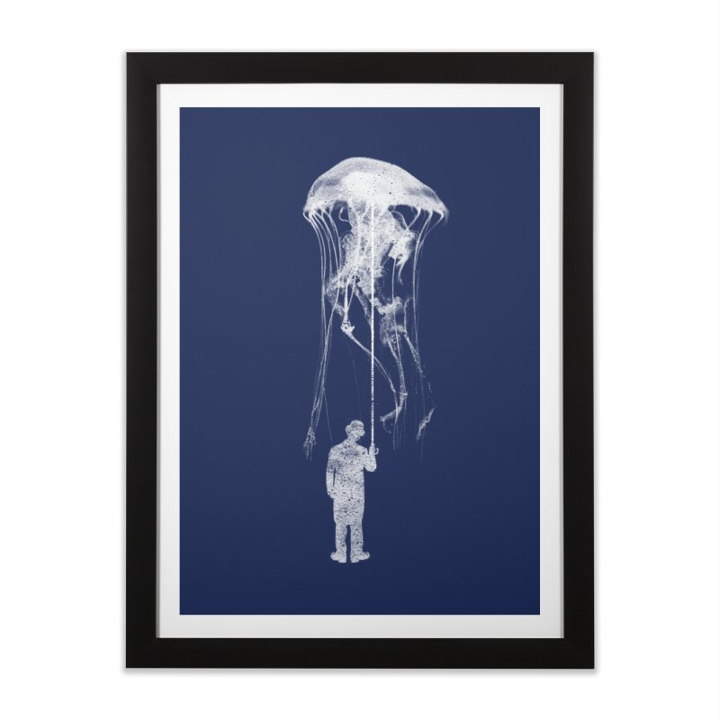 Unexpected Rain Home Framed Fine Art Print by Misterdressup